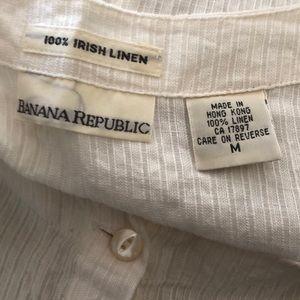 Banana Republic Tops - Banana Republic Irish Linen Sleeveless Blouse
